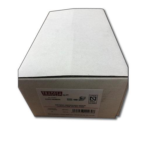 Caja 18 unidades codo hembra press 16x1/2