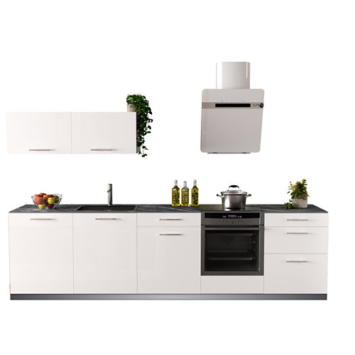 Cocina en kit delinia id con altos sevilla blanco brillo 3.00 m