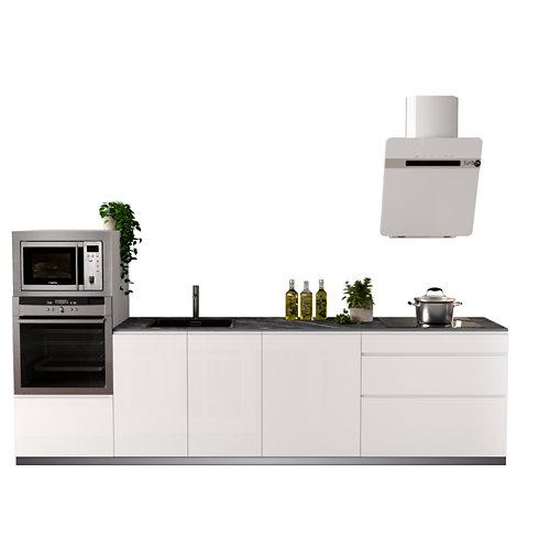 Cocina en kit delinea id tokio blanco brillo 3.00 m