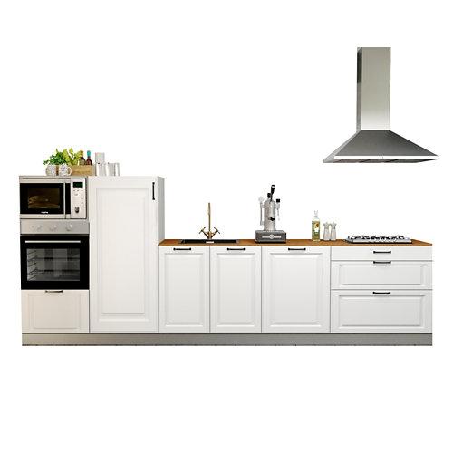 Cocina en kit delinia id oxford blanco 3.60 m