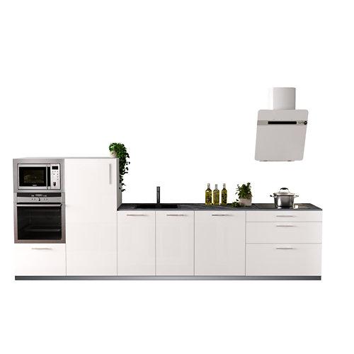 Cocina en kit delinia id sevilla blanco brillo 3.60 m