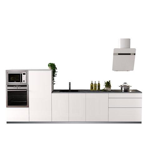 Cocina en kit delinia id mikonos blanco brillo 3.60 m