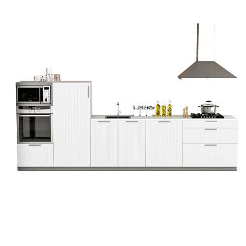 Cocina en kit delinia id toscane blanco mate 3.60 m