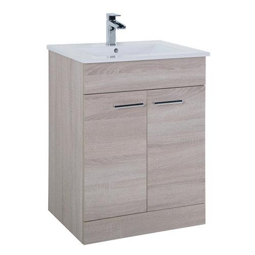 Mueble de baño con lavabo motril roble 60x35 cm