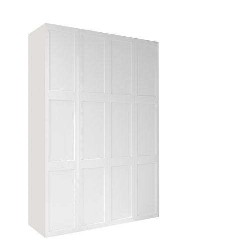Armario spaceo home yakarta blanco aba amort interior blanco 240x160x60cm