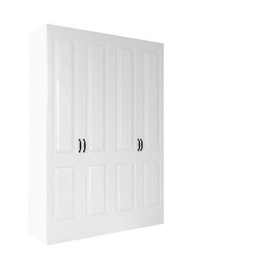 Armario spaceo home marsella blanco aba amort interior blanco 240x160x60cm