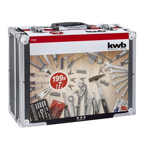 Maletín herramientas 199 piezas kwb