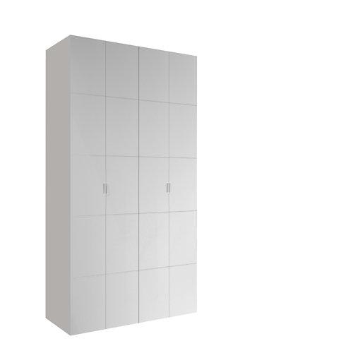 Armario spaceo home lucerna blanco aba amort interior blanco 240x120x60cm