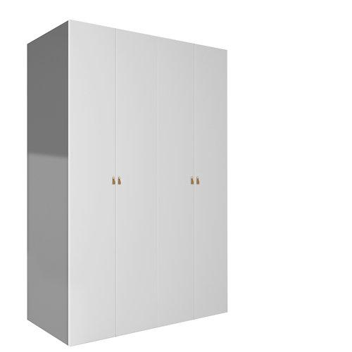 Armario ropero puerta abatible spaceo home macao gris 120x240x60 cm