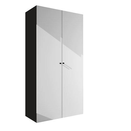 Armario spaceo home mallorca blanco abatible interior gris 240x120x60cm