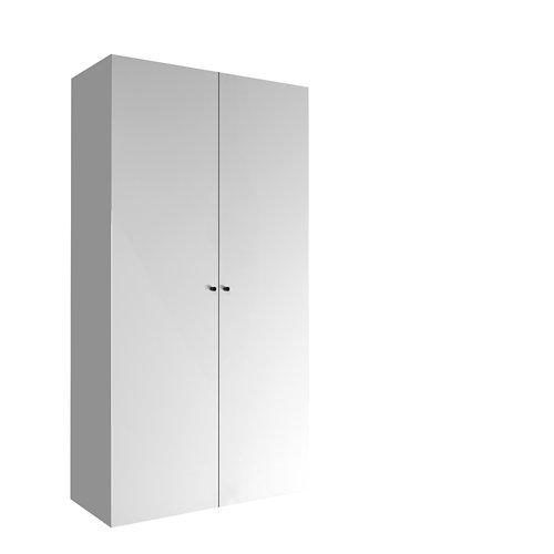 Armario spaceo home mallorca blanco abatible interior textil 240x120x60cm