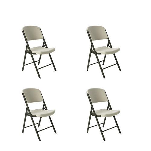 Pack 4 sillas lifetime blanco