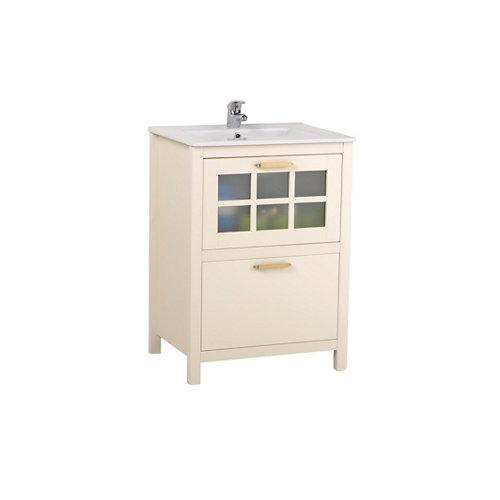 Mueble de baño con lavabo nizza blanco 60x45 cm