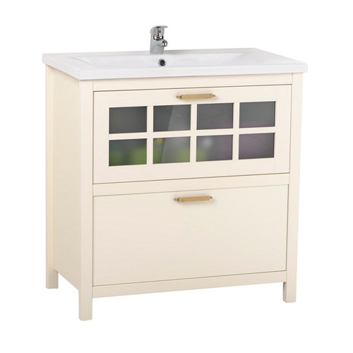 Mueble de baño con lavabo nizza blanco 80x45 cm