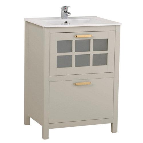 Mueble de baño con lavabo nizza perla 60x45 cm