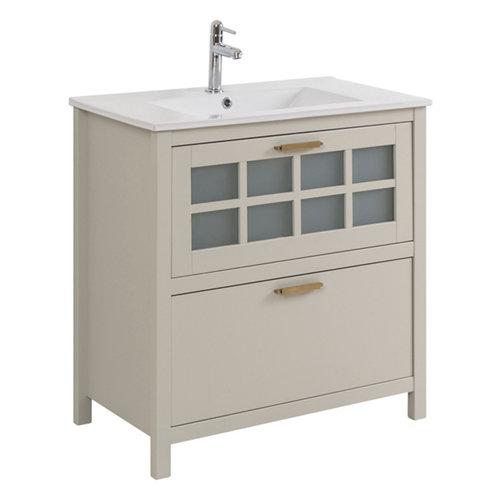 Mueble de baño con lavabo nizza perla 80x45 cm