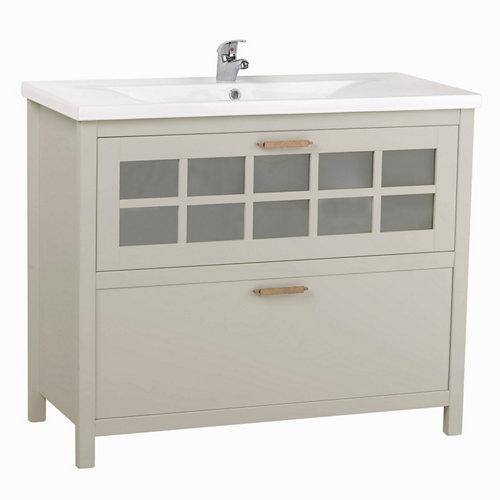 Mueble de baño con lavabo nizza perla 100x45 cm