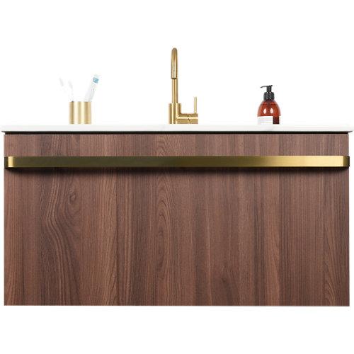 Mueble de baño con lavabo loa nogal 80x48 cm