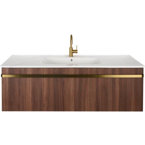 Mueble de baño con lavabo loa nogal 120x48 cm