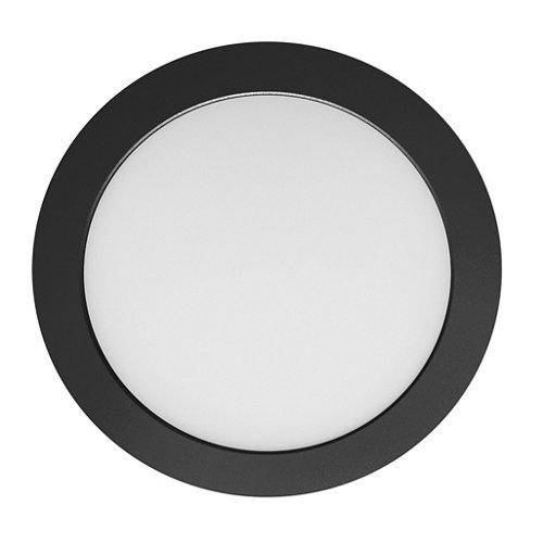 Foco downlight eco ducto redondo 20 w negro