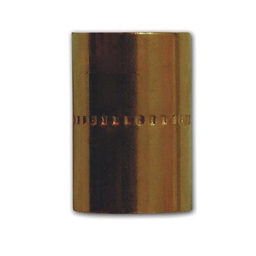Manguito cobre 22 mm bolsa 2 unidades