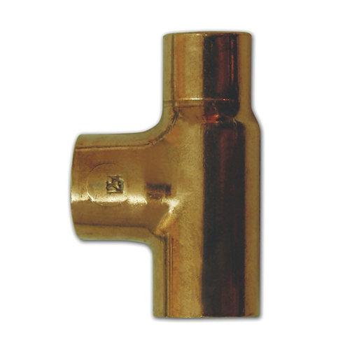 Te reducida cobre 22-18-22 mm 2 unidades