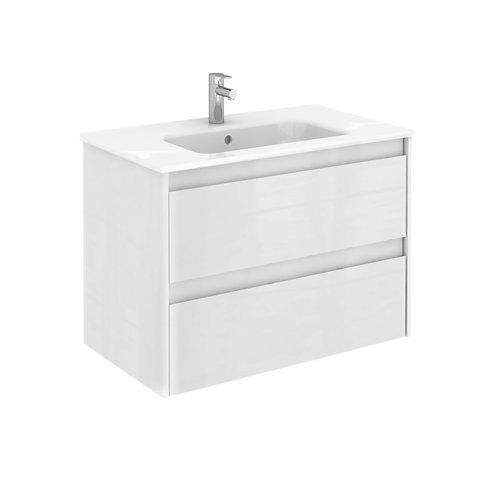 Mueble de baño con lavabo alfa blanco 80x45 cm