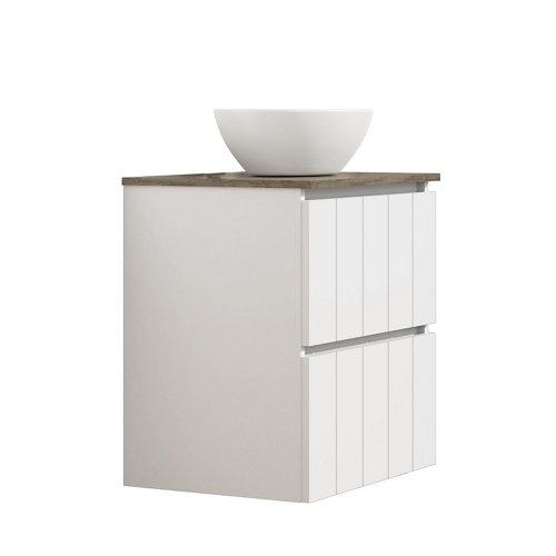 Mueble de baño con lavabo terra blanco 60x45 cm