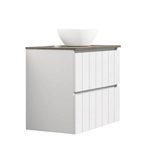 Mueble de baño con lavabo terra blanco 80x45 cm