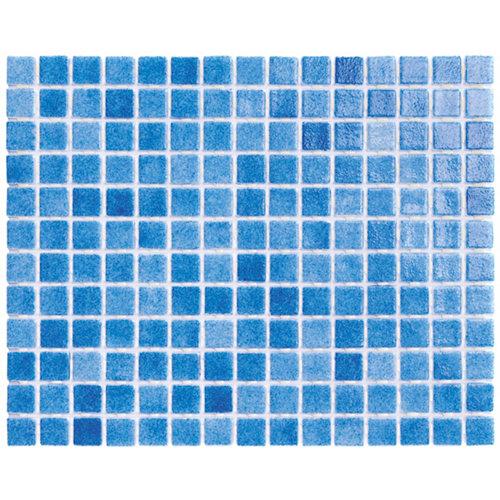 Gresite punto silicona traffic blue para piscinas 31.6x39.6 cm
