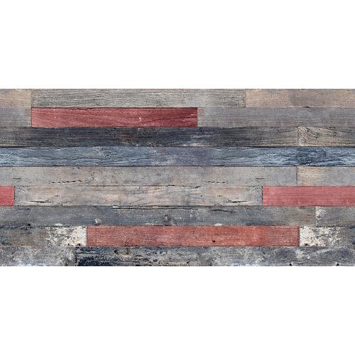 Placa alveolar decorativa color wood 100x0.3x50xm