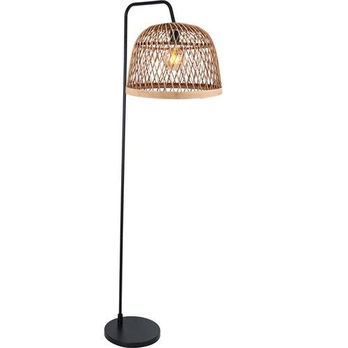 Lámpara de pie manila negra