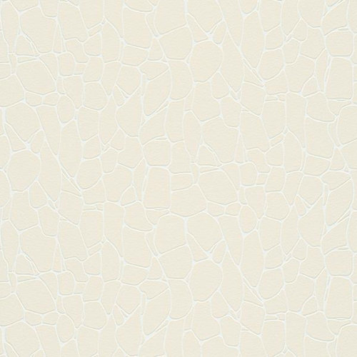 Papel pintado aspecto texturizado 3d imitación piedras blanco