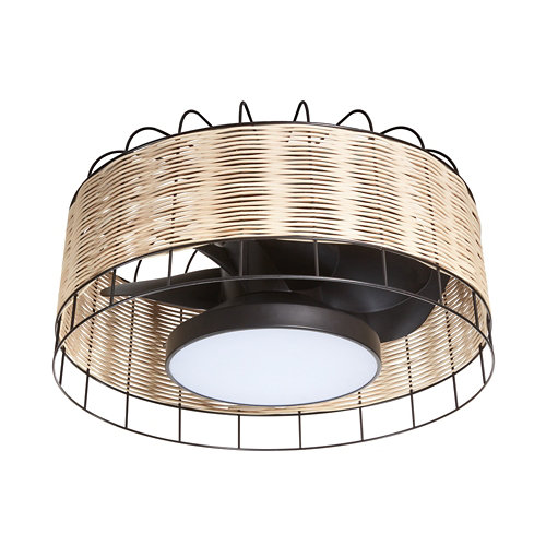 Ventilador de techo con luz mara negro 61.2 cm motor dc