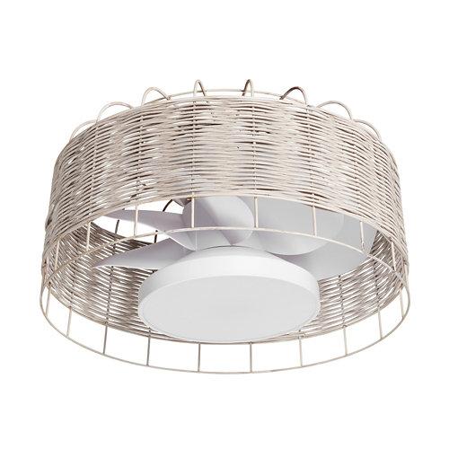 Ventilador de techo con luz mara blanco 61.2 cm motor dc
