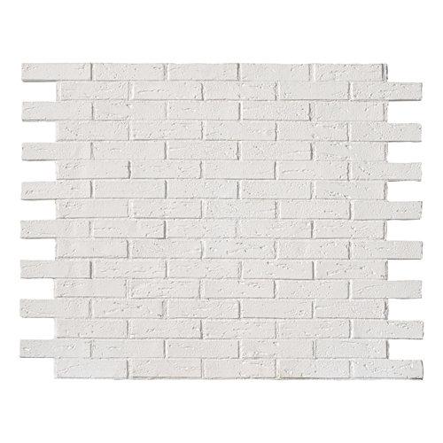 Revestimiento decorativo ladrillo 118x93 cm blanco