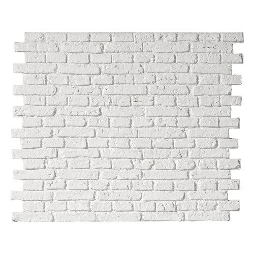 Revestimiento decorativo ladrillo country 113x93 cm blanco