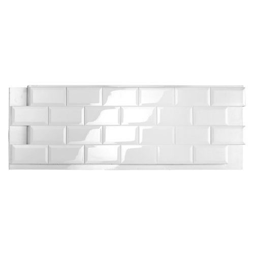 Revestimiento decorativo azulejo metro 131x45 cm blanco