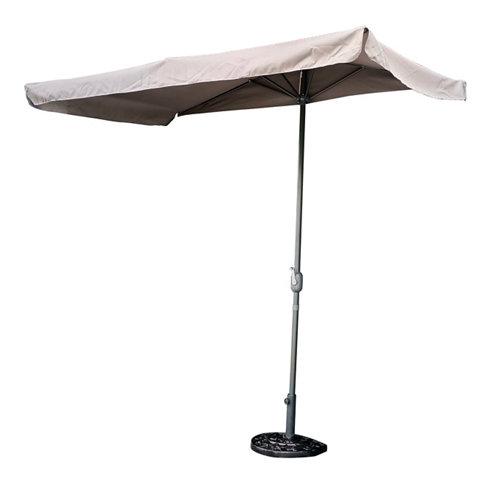 Parasol rectangular aruba 230 cm gris