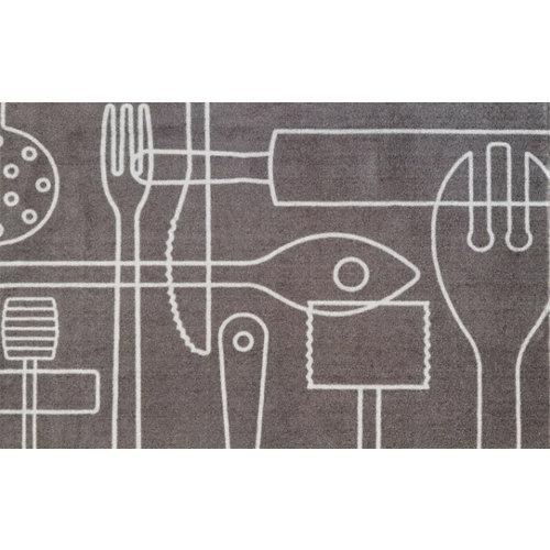 Alfombra de cocina multicolor poliamida paladar 50 x 80cm