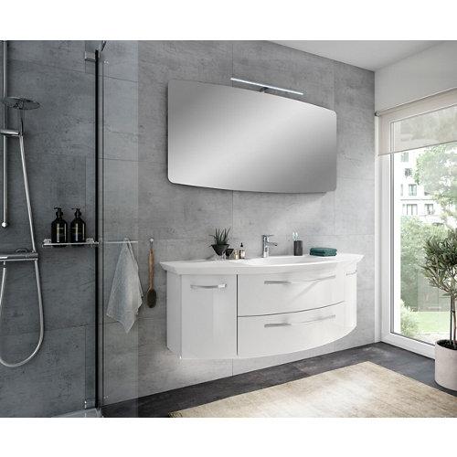 Mueble de baño con lavabo image blanco 130x48 cm