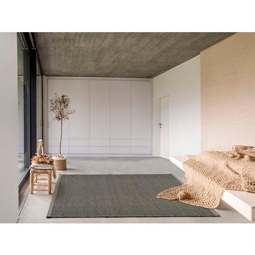 Alfombra de interior gris lana yoko 80 x 150cm