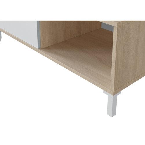 Mesa de centro brooklyn roble y blanco artik 50x100x40cm