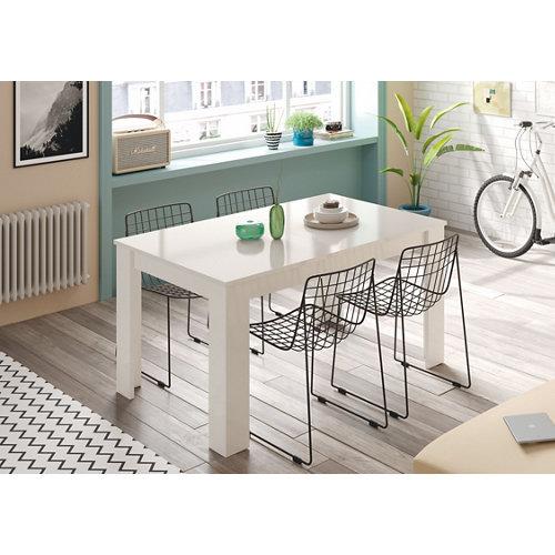 Mesa de comedor extensible kendra blanco artik