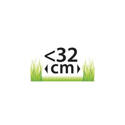 Menos de 32 cm