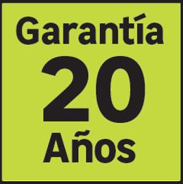 20 años de garantía
