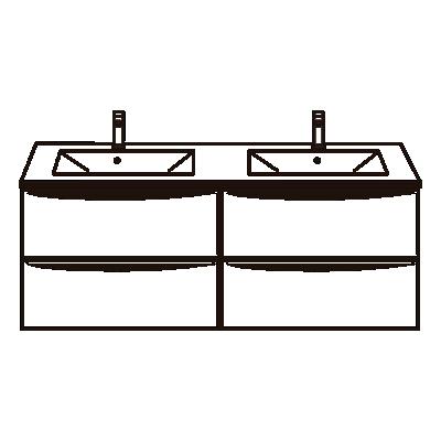 Doble lavabo