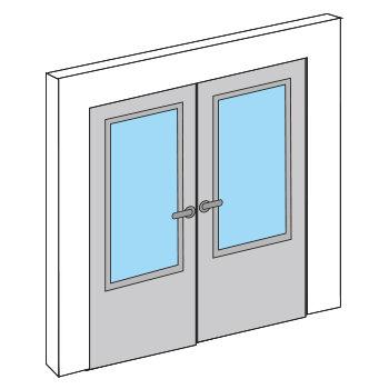 Abatible doble vidriera con cristal